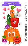 a set of cute vegetable.... | Shutterstock .eps vector #319763747