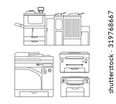 vector outlines of printer for... | Shutterstock .eps vector #319768667