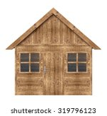 Wooden House Isolated On A...