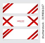 cards with red ribbon. vector... | Shutterstock .eps vector #319806167