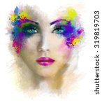 woman portrait abstract... | Shutterstock . vector #319819703