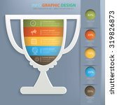 trophy info graphic design...