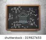 law concept  chalk blue... | Shutterstock . vector #319827653