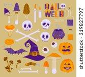 bright cartoon style halloween... | Shutterstock .eps vector #319827797
