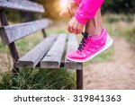 young sportive woman getting... | Shutterstock . vector #319841363