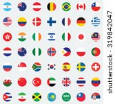 collection of flag button... | Shutterstock .eps vector #319842047