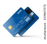 set of credit cards isolated on ... | Shutterstock .eps vector #319847573