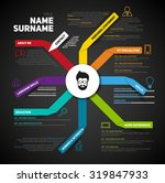 minimalist cv  resume template... | Shutterstock .eps vector #319847933