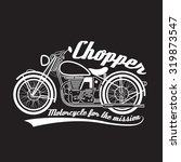 white line chopper motorcycle...