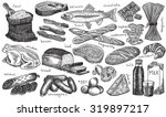 food  wheat  loaf  baguette ... | Shutterstock .eps vector #319897217