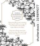 vintage delicate invitation...   Shutterstock .eps vector #319899077