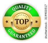 gold top quality badge with... | Shutterstock .eps vector #319903517