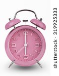 Pink Alarm Clock With The Hand...