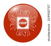 chip icon  isolated