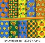 set of vector abstract paper.... | Shutterstock .eps vector #319977347