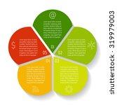 Circular Flower Infographic...