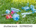 Heap Of Rubbish On Grass In...