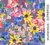 beautiful summer flowers with...   Shutterstock . vector #319989533