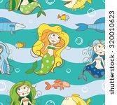 vector seamless underwater... | Shutterstock .eps vector #320010623