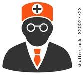 head physician vector icon.... | Shutterstock .eps vector #320027723