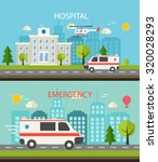 medical horizontal web banner... | Shutterstock .eps vector #320028293