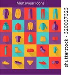 menswear flat icons | Shutterstock .eps vector #320037323