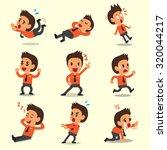 cartoon businessman character... | Shutterstock .eps vector #320044217