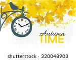 Autumn Time.autumn Vector...