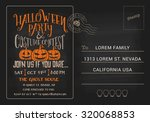 halloween party and costume... | Shutterstock .eps vector #320068853