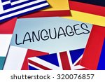the word languages in the... | Shutterstock . vector #320076857
