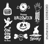 halloween design elements set | Shutterstock .eps vector #320082083