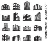 buildings icons | Shutterstock .eps vector #320085677