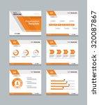 vector template presentation... | Shutterstock .eps vector #320087867