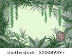 tropical jungle background with ... | Shutterstock .eps vector #320089397
