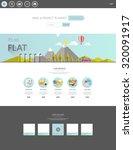 modern eco website template...