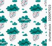 rainy autumn seamless pattern... | Shutterstock .eps vector #320097023