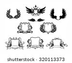 vector collection of chalkboard ... | Shutterstock .eps vector #320113373