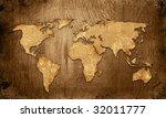 world map vintage artwork | Shutterstock . vector #32011777