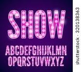 vector violet pink neon lamp... | Shutterstock .eps vector #320138363