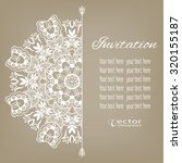 card or invitation with lace... | Shutterstock .eps vector #320155187