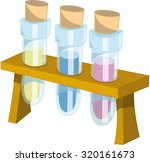 vector test tubes cartoon style | Shutterstock .eps vector #320161673