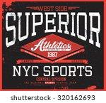 new york t shirt graphic | Shutterstock .eps vector #320162693