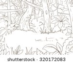 jungle forest cartoon coloring... | Shutterstock .eps vector #320172083