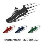 speeding running shoe  sneaker... | Shutterstock .eps vector #320186267