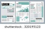 Graphical layout modern green newspaper template  | Shutterstock vector #320195123