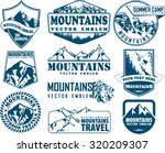 vector mountain logo emblem set ... | Shutterstock .eps vector #320209307