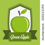 healthy food concept with apple ... | Shutterstock .eps vector #320212193