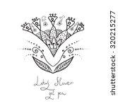 indian stylization flower lotus ... | Shutterstock .eps vector #320215277