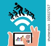 workforce illustration over... | Shutterstock .eps vector #320227217