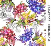 watercolor seamless pattern on... | Shutterstock . vector #320234987